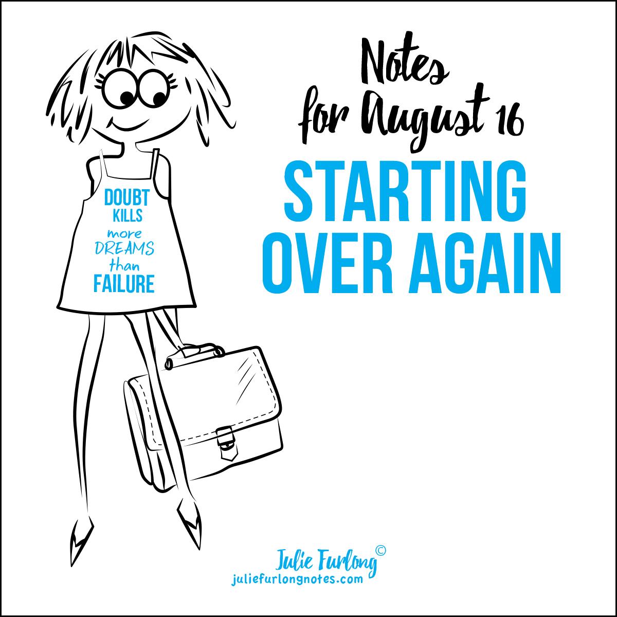 Julie-Furlong-Notes-Starting-Over-Again
