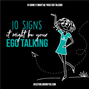 Signs it might be your ego talking