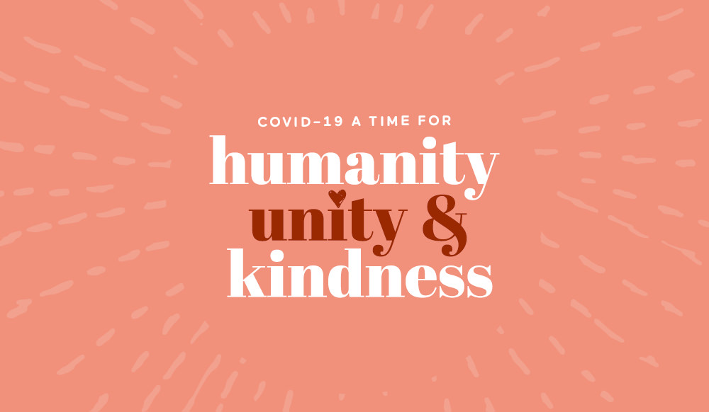 Julie Furlong Notes, Coronavirus COVID-19 - A time for humanity, unity and kindness